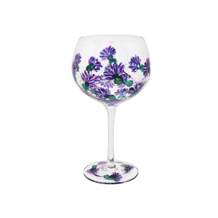 Hand Painted Thistle Gin Glass